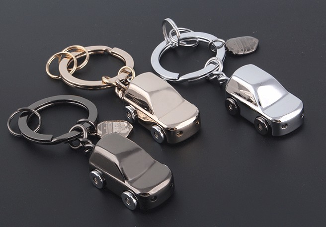 zinc alloy LED car keychain