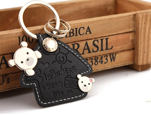 Cartoon leather keychain