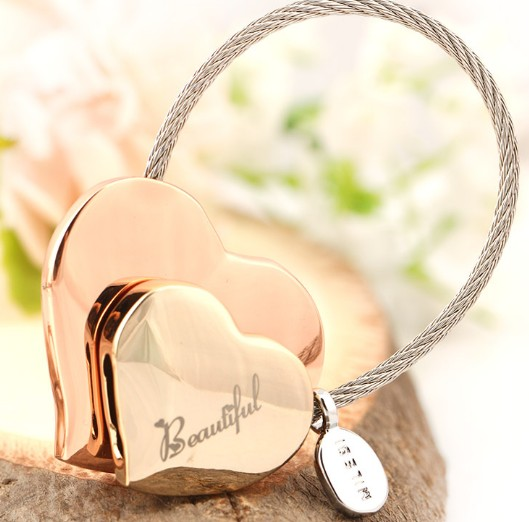 heart to heart keychain