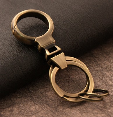 Classic double ring keychain
