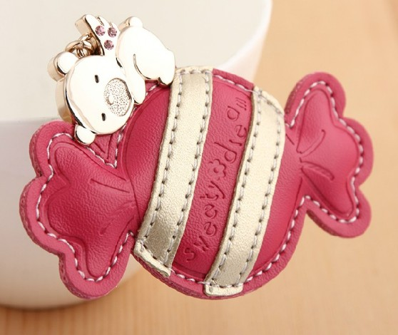 Sweets Leather keychain