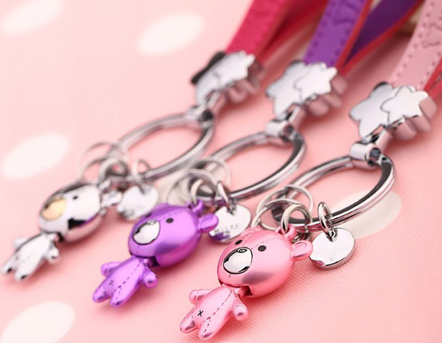 little bear alloy keychain