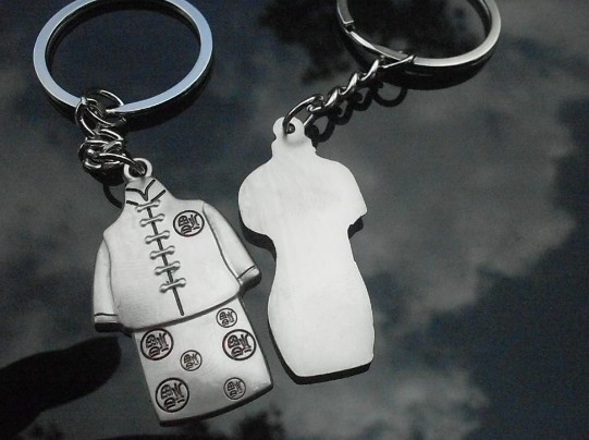 Chinese-style clothing couple keychains