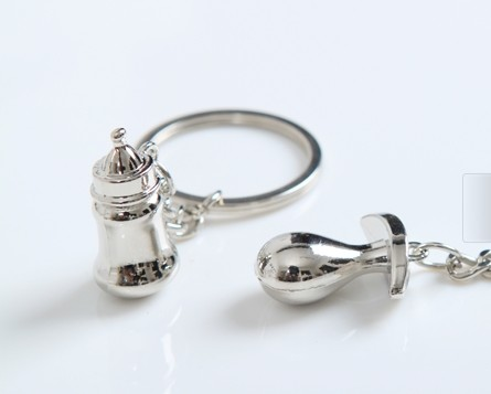 Personalized feeding bottle keychain