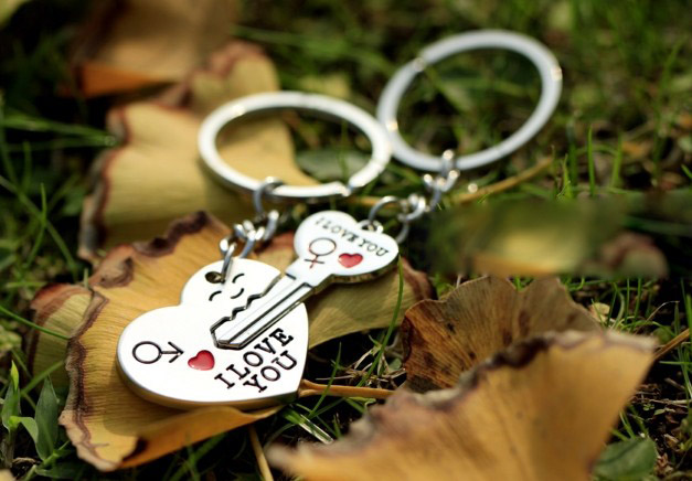 Open your heart key keychains