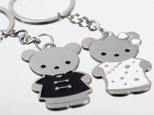 Chinese style bears couple keychains
