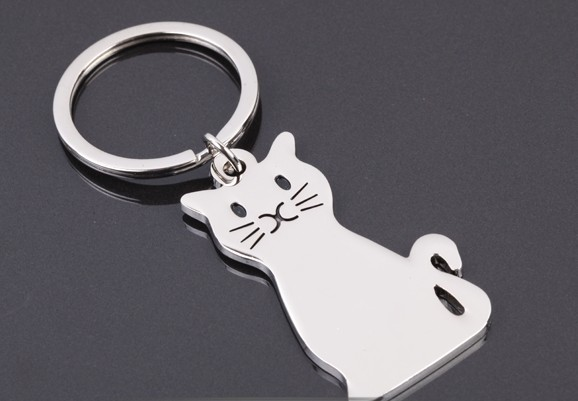 Best of luck cat keychain