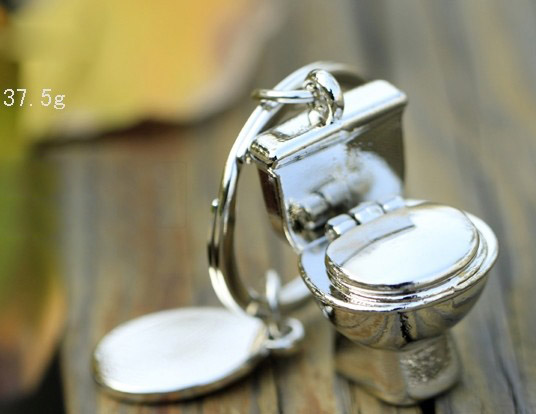 Mini toilet keychain