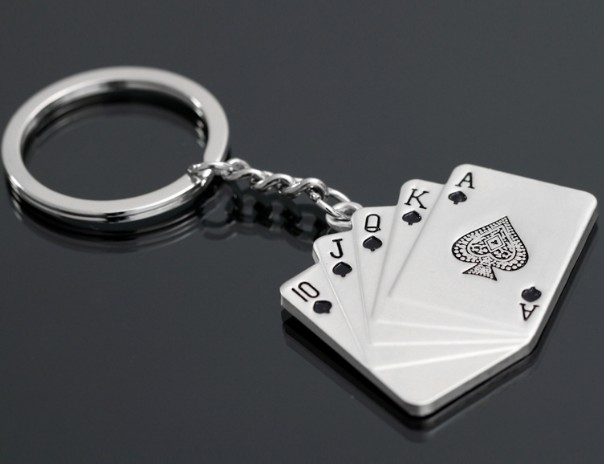 Good Luck Poker keychain