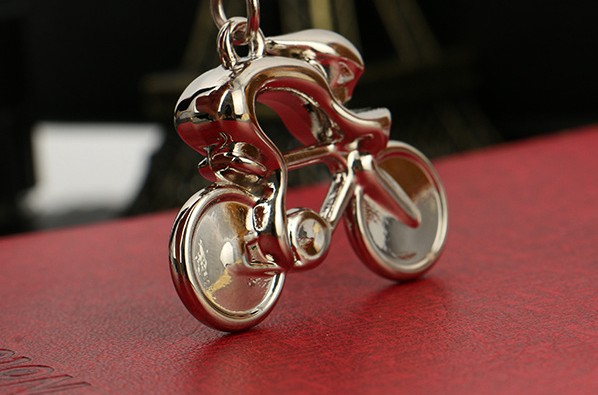 Bicycle exercise alloy keychain