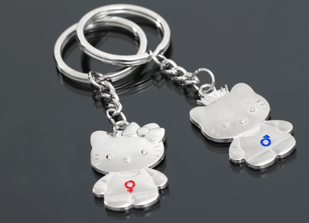 Exquisite cats couple keychains