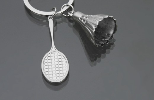 Personalized badminton keychain