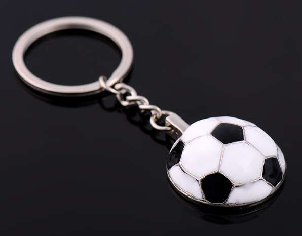 Personalized football keychain