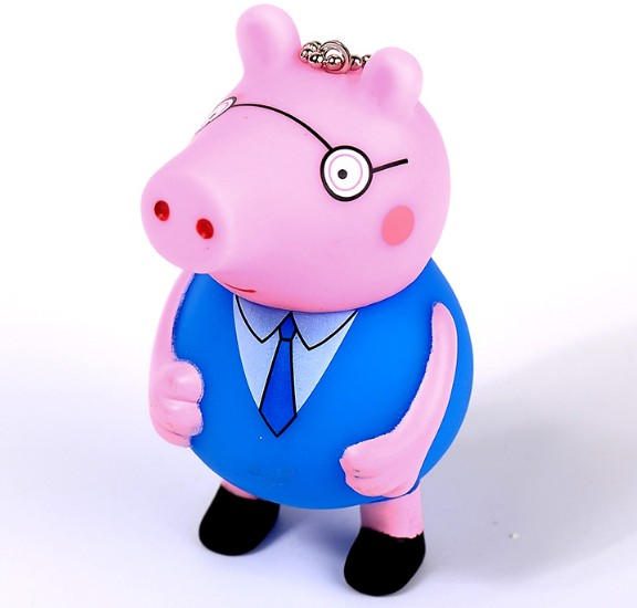 Cartoon pig keychain