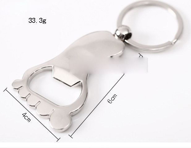 Feet bottle opener keychain