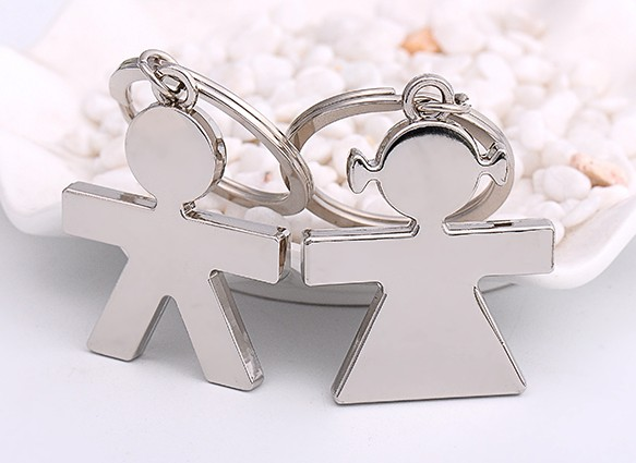 Boy and girl lovers keychains