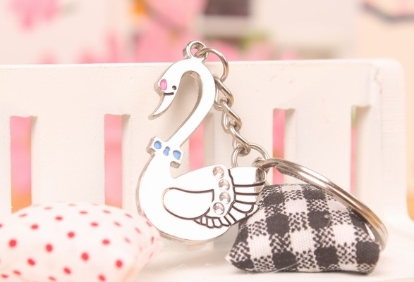 Swan Couple keychains