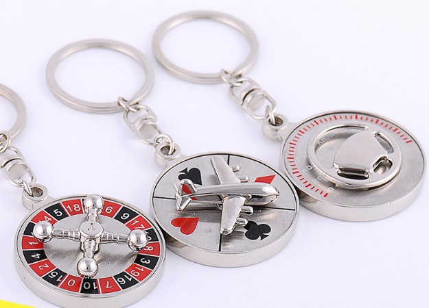 Rotatable alloy keychain