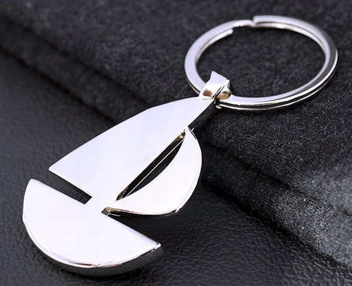 Personalized Sailboat keychain