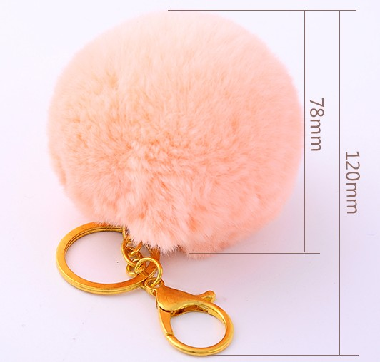 Hairball lobster clasp keychain