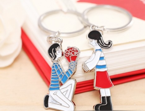 marry me couple keychains