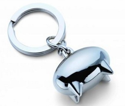 Science fiction pig keychain