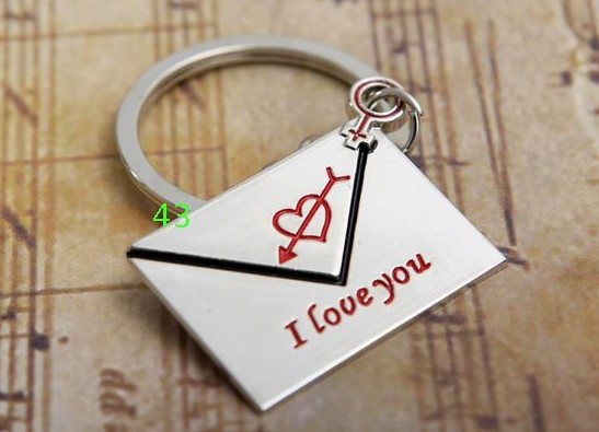 Love's Letter couple keychains