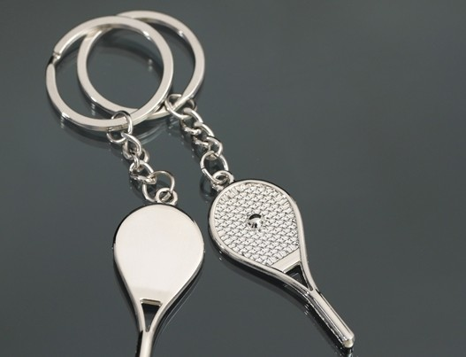 Tennis couple keychains