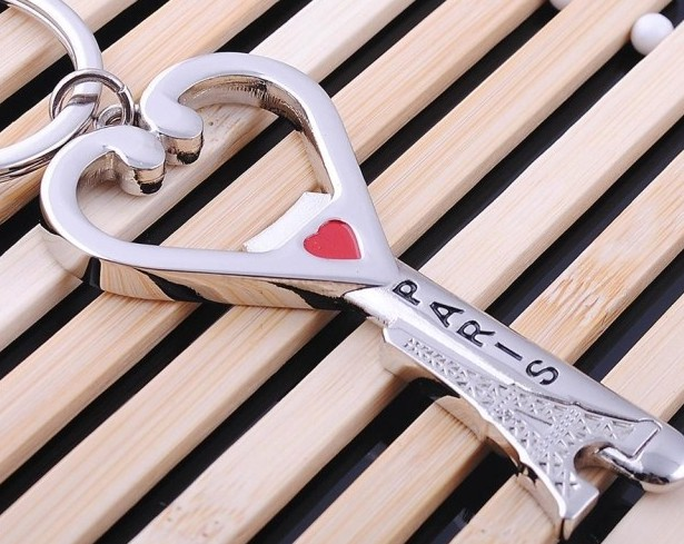 Eiffel Tower bottle opener keychain