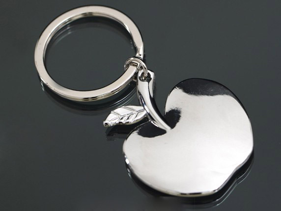 Apple alloy keychain
