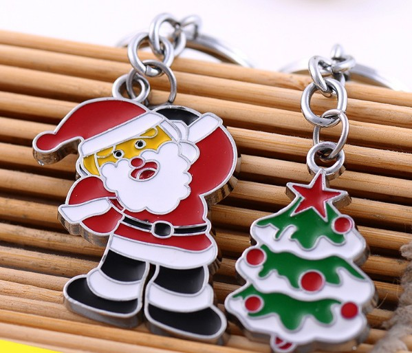 Santa Claus / Christmas tree keychain