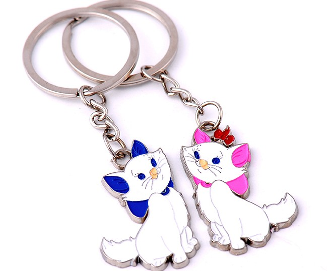 Lovers cats alloy keychains