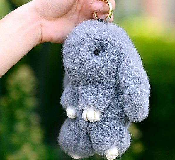 Personalized rabbit keychain
