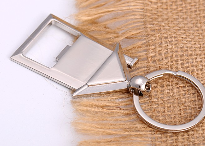 Alloy house bottle opener keychain