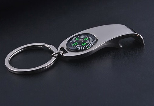 Personality compass keychain