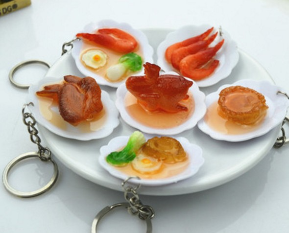Simulation food keychain