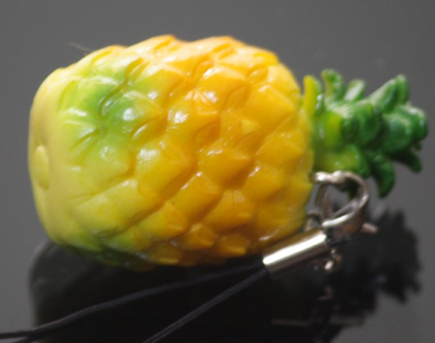 mini pineapple keychain