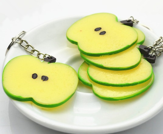 Lemon slices keychain