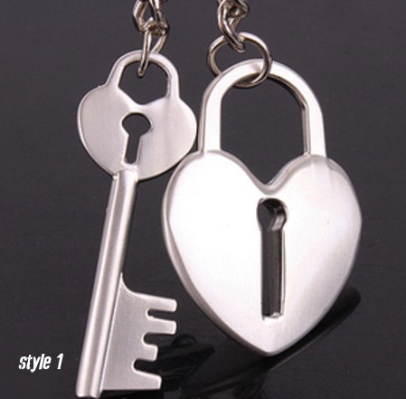 Open your heart Couple keychains