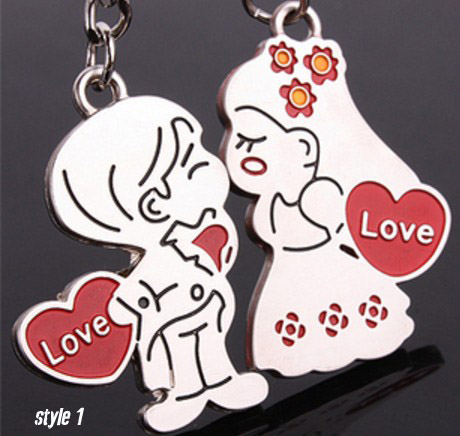 I love you couple keychains