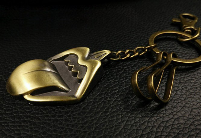 Bronze tongue keychain