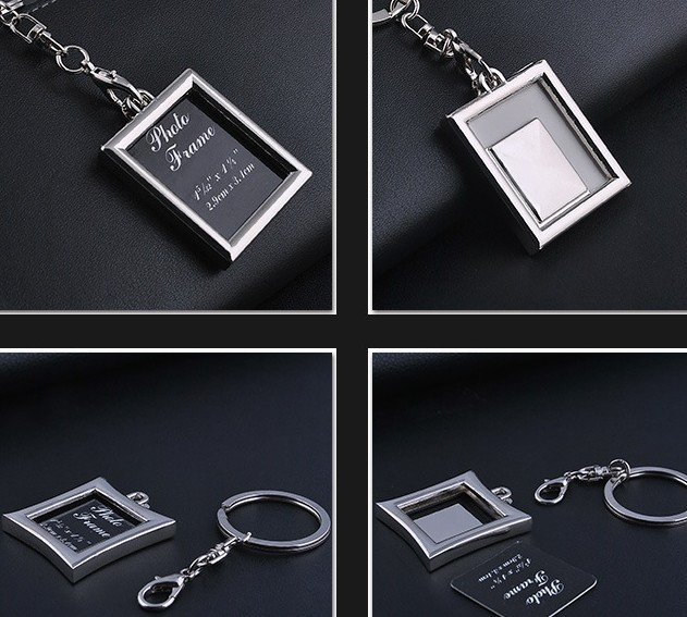 DIY photo frame keychain
