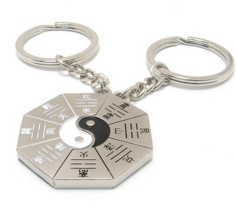 Tai Chi diagram couple keychains