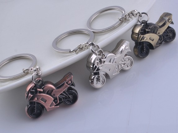 Motorcycle alloy keychain