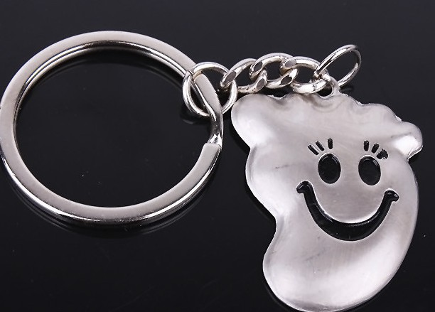 Hands and feet smiling Couple Keychains