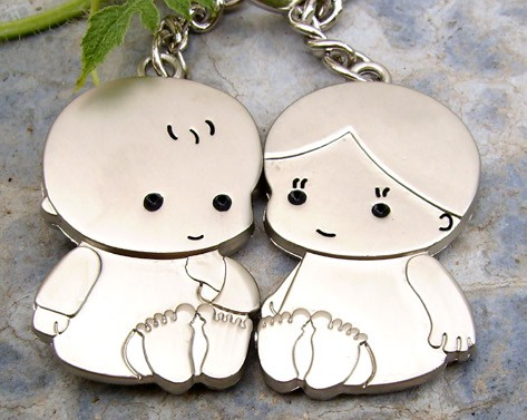 Baby Couple Keychains