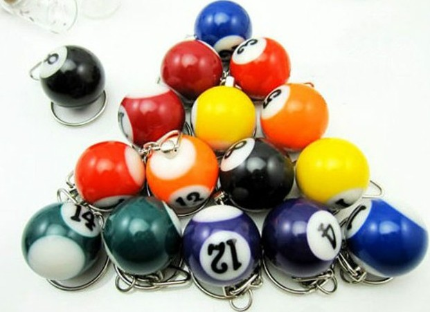 Mini Billiards keychain