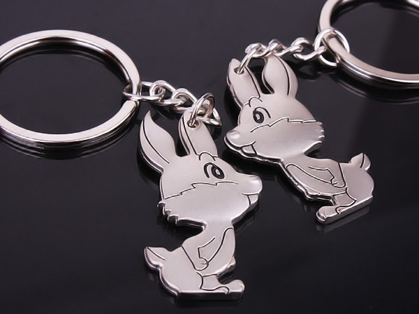 Rabbit couple keychains