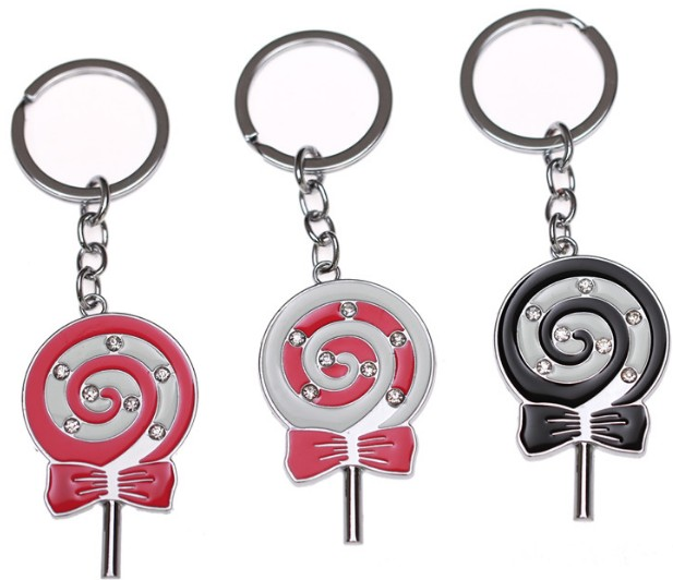 girl's lollipop keychain