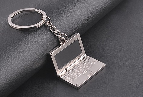 Foldable laptop keychain